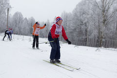People participating in the Ski Track of Russia 2017 Stock Photos
