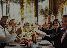 People Party Celebration Drinks Cheers Happiness Concept Royalty Free Stock Images