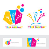 People party colored logo Royalty Free Stock Photos