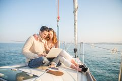 People partying on boat Royalty Free Stock Photography