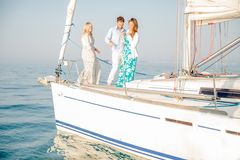 People partying on boat Royalty Free Stock Photo