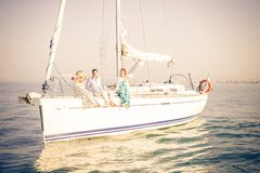 People partying on boat Stock Photography