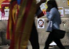 Independence referendum in barcelona backlight Royalty Free Stock Images