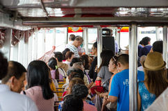 People in the passenger boat. Royalty Free Stock Image