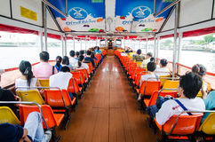 People in the passenger boat. Royalty Free Stock Images