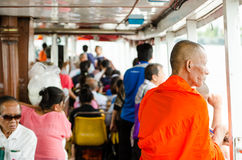 People in the passenger boat. Stock Photo
