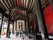 People in patio of Guangdong Folk Art Museum Royalty Free Stock Photo