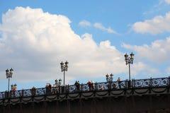 People on Patriarchal Bridge Stock Photos
