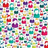 People pattern Stock Image