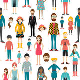 People pattern. Flat figures. Stock Photos