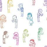 People pattern Royalty Free Stock Images