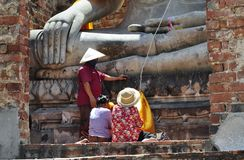 People pay respect to Lord Buddha stock images