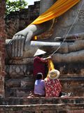 People pay respect to Lord Buddha Royalty Free Stock Images