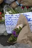PEOPLE PAY TRIBUTE TO BRUSSELS VICTIMS Royalty Free Stock Photo