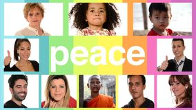 People for peace stock video footage
