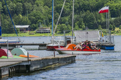 People in the  pedal boats Royalty Free Stock Photos