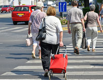 People at the pedestrian crossing Stock Photos