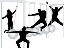 People and pendulum. Illustration of people and pendulum Stock Photos