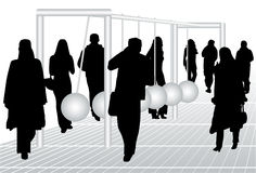 People and pendulum Royalty Free Stock Photography