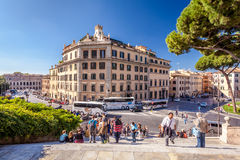 People People walking the ancient streets and alleys of Rome, Italy Royalty Free Stock Images
