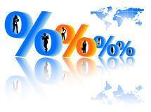 People and percent Stock Image