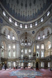 People perform the ritual prayers of islam in Eyup Sultan Mosque Royalty Free Stock Images