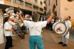 People performing Gugge Music at the carnival of Lugano Stock Photography