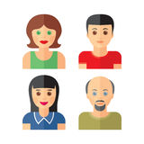 People persons icons in flat style. People icons in flat design. People vector illustration. Human characters signs. Royalty Free Stock Photo