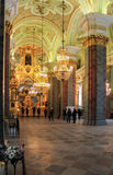 People in the Peter and Paul Cathedral. Stock Images