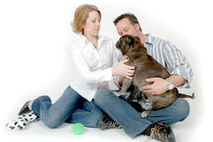 People and Pets stock photo