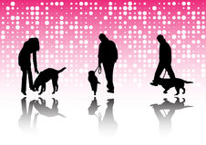 People and pets Royalty Free Stock Photo