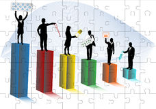 People and pharmacy. Illustration of people and pharmacy Stock Images