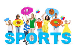 People in a Photo with Concept of Sports Stock Photography