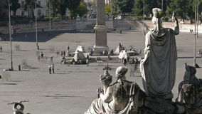 People at Piazza de Popolo stock video footage
