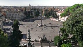 People at Piazza de Popolo stock footage
