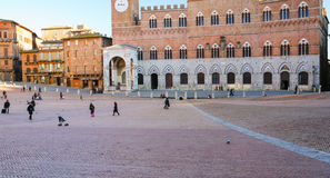 People Piazza del Campo in Siena cty Stock Photo