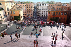 People on the Piazza di Spagna Stock Photography