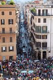 People on the Piazza di Spagna Stock Image