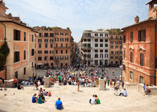 People on the Piazza di Spagna Stock Photo
