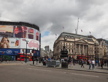 People in Piccadilly Circus in London Stock Photography