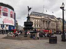 People in Piccadilly Circus in London Stock Image