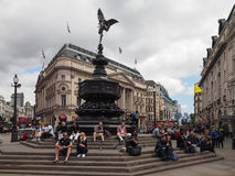 People in Piccadilly Circus in London Stock Photo