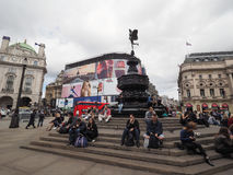 People in Piccadilly Circus in London Royalty Free Stock Photo