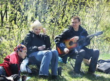 People on picnic Royalty Free Stock Photography