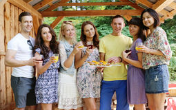 People on the picnic Stock Photography