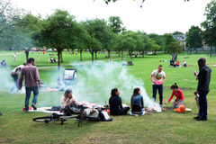 People picnic on park Royalty Free Stock Photography