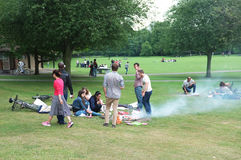 People picnic on park Stock Image