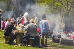 People picnicking Royalty Free Stock Photos