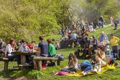 People picnicking Stock Photo