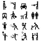 People pictogram Royalty Free Stock Photography